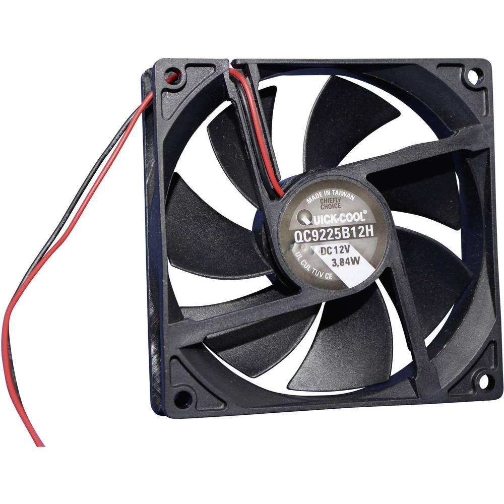 Aksialni ventilator 12 V/DC 100.24 m/h (D x Š x V) 92 x 92 x 25 mm QuickCool QC9225B12H