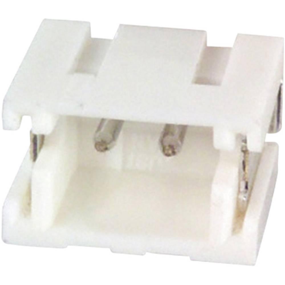 Indbygningsstiftliste (præcision) ZR Samlet antal poler 9 JST S9B-ZR-SM4A-TF (LF)(SN) Rastermål: 1.50 mm 1 stk