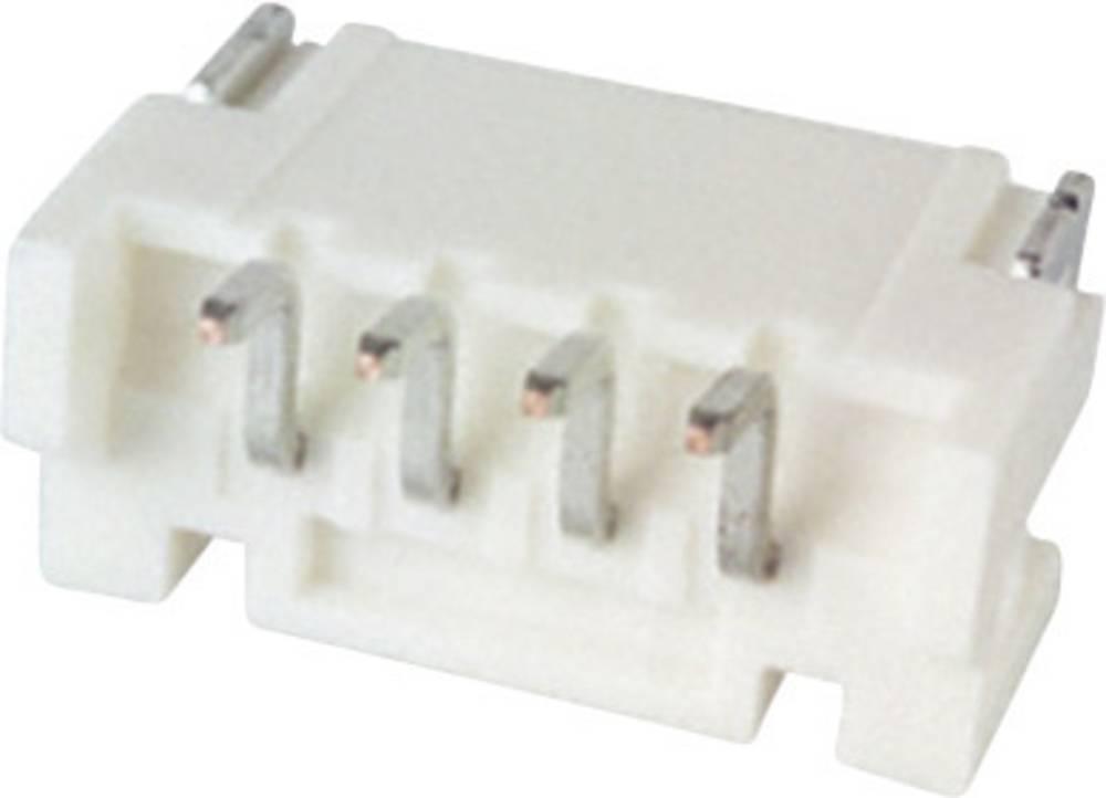 Indbygningsstiftliste (standard) PH Samlet antal poler 4 JST S4B-PH-SM4-TB (LF)(SN) Rastermål: 2 mm 1 stk