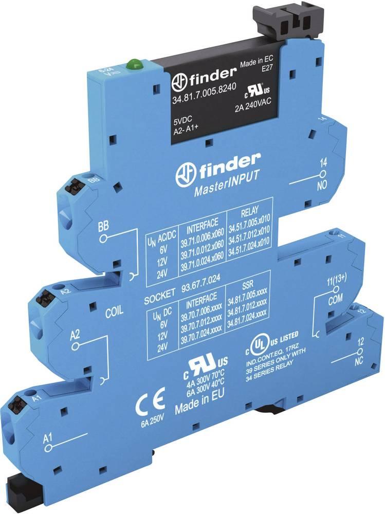 MasterInput ozki preklopni rele za DIN-letev 1 kos Finder 39.70.0.125.9024 napetost 24 V/DC