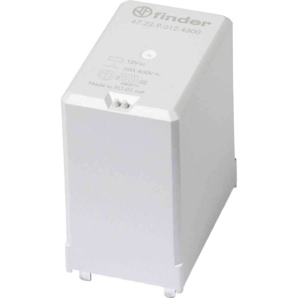 Rele za tiskana vezja 12 V/DC 50 A s tremi zaklepi Finder 67.22.9.012.4300 1 kos
