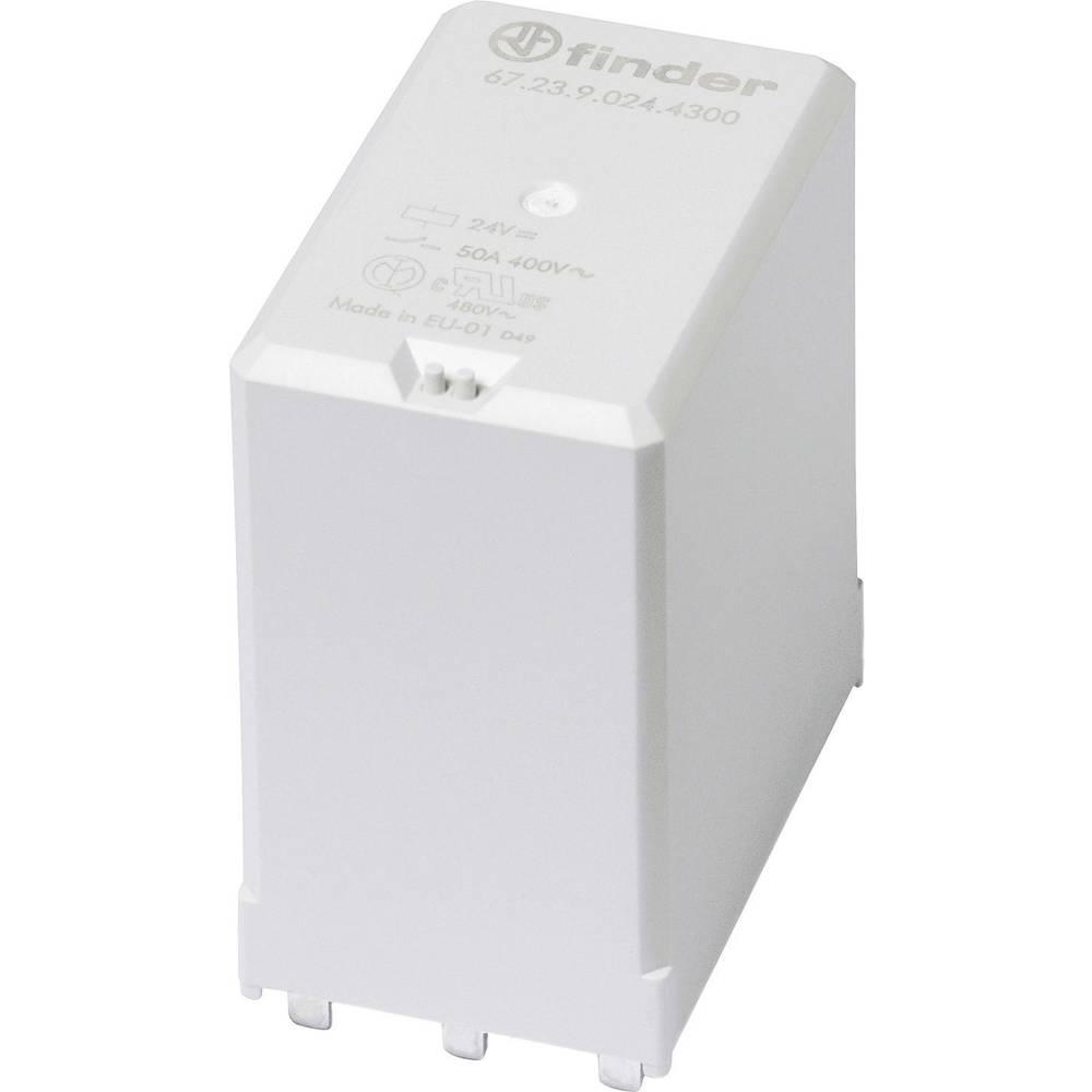 Rele za tiskana vezja 24 V/DC 50 A s tremi zaklepi Finder 67.23.9.024.4300 1 kos