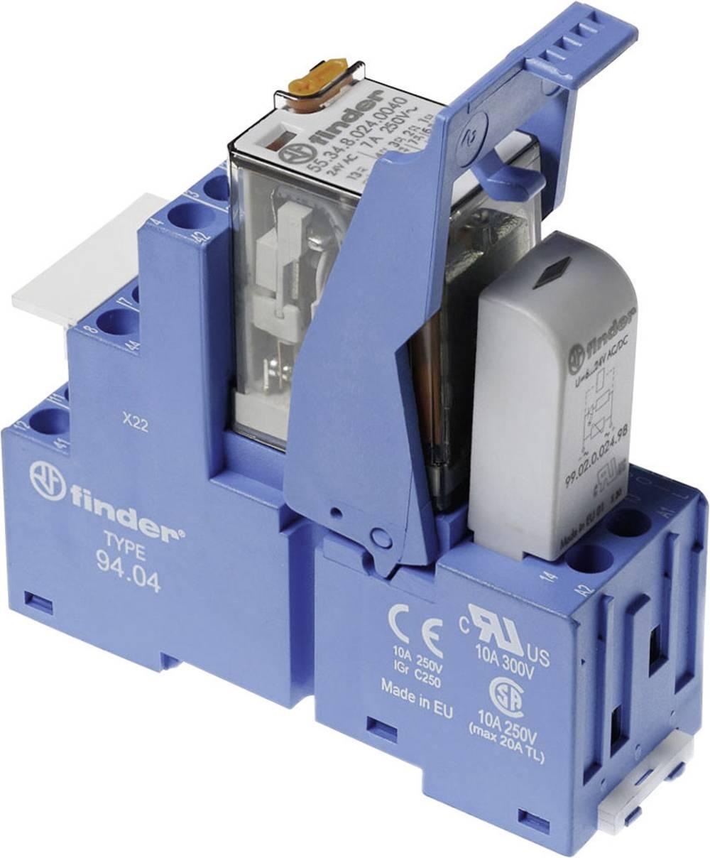 Relækomponent 1 stk Finder 58.34.8.012.0060 Nominel spænding: 12 V/AC Brydestrøm (max.): 7 A 4 x omskifter