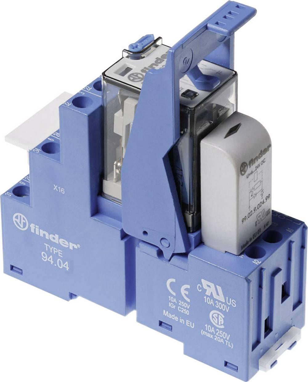 Relækomponent 1 stk Finder 58.34.9.125.0050 Nominel spænding: 125 V/DC Brydestrøm (max.): 7 A 4 x omskifter