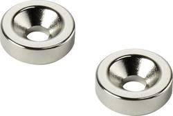 Permanent-magnet Ring N35 Grænsetemperatur (max.): 80 °C Conrad Components D20T5-M4