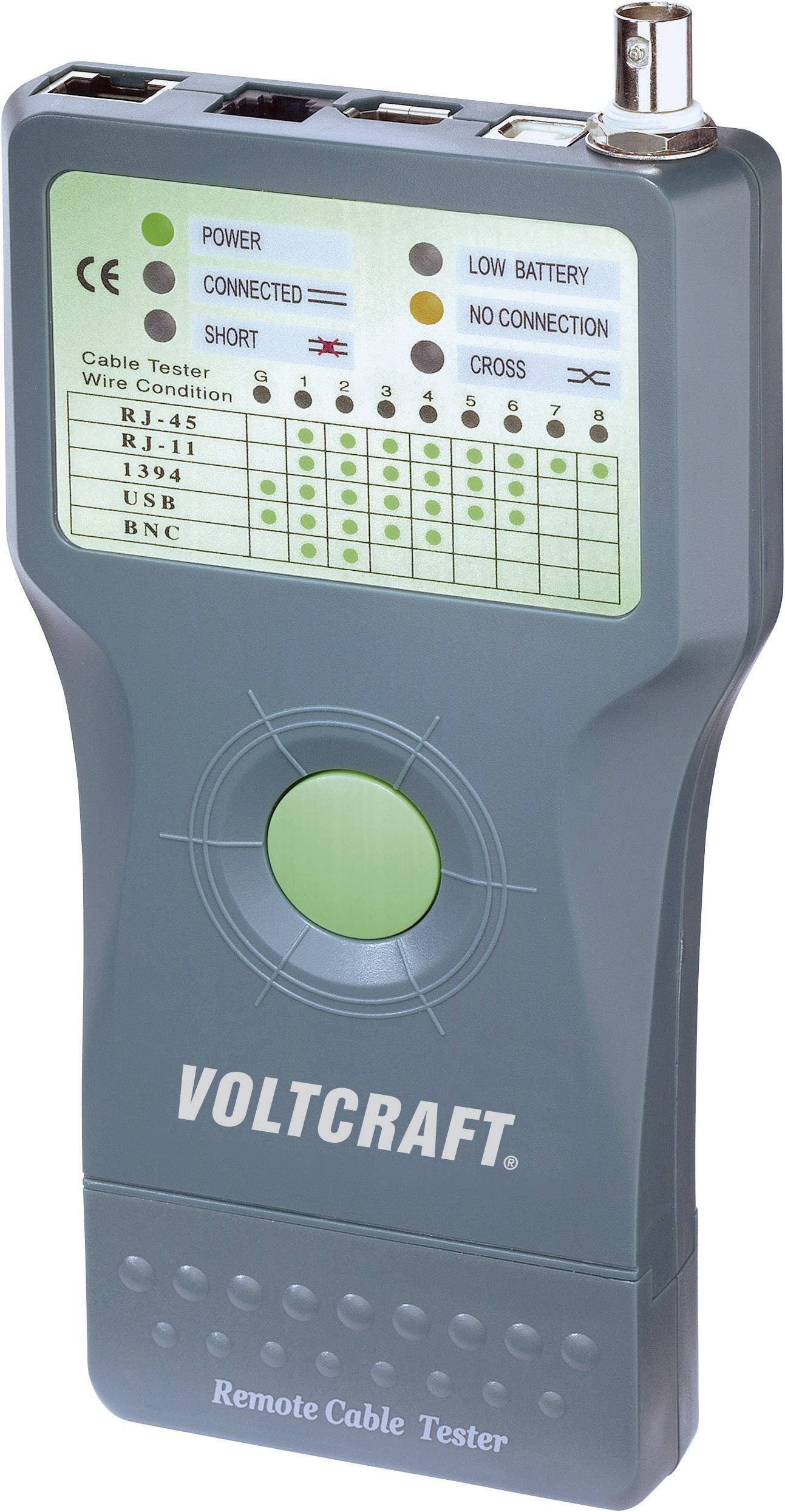 VOLTCRAFT/® CT-5/ Cable Tester Tool for Verification Suitable for RJ-45/ BNC Cable Tester RJ-11/ IEE 1394/ USB Cables