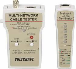 VOLTCRAFT® CT-1 netværkskabeltester BNC, RJ-45, 10Base-T (UTP/STP), AT&T 258A, TIA 586A/B, Token Ring