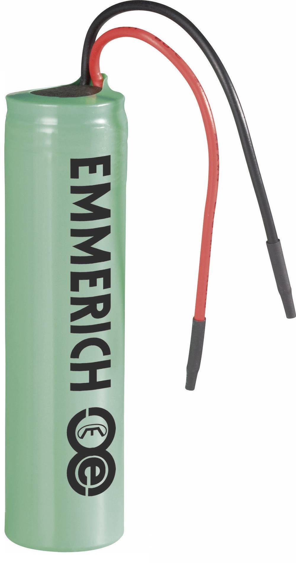Litij-ionski akumulator s kablom 14500 Emmerich 3, 7 V, 800 mAh