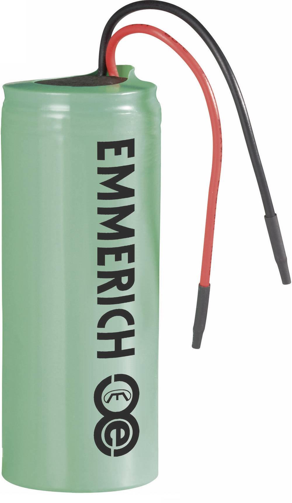 Litij-ionski akumulator s kablom 26650 Emmerich 3, 7 V, 4500 mAh