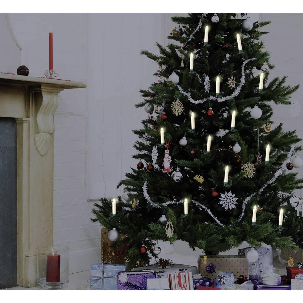 Polarlite LBA 30 003 Wireless Christmas Tree Lights Candle Inside Battery Powered 10 LED Warm White