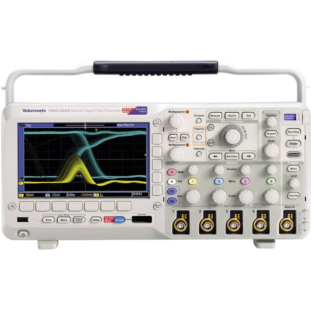 Tektronix Mso2024 4 Channel Oscilloscope Digital Storage Adapter Bandwidth 200 Mhz