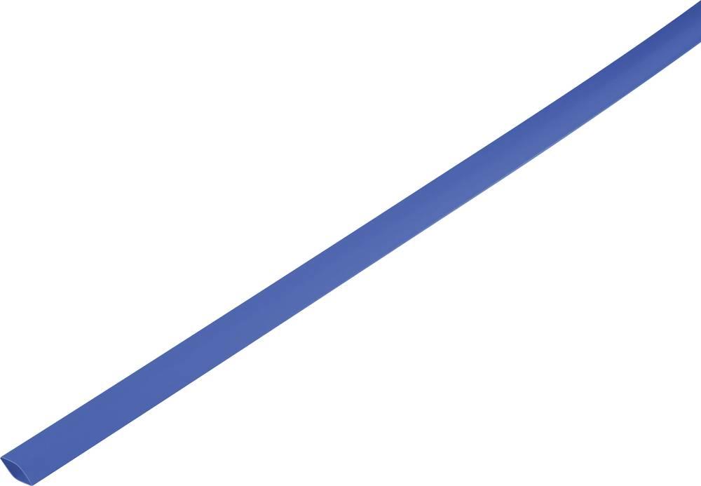Skrčljiva cev, tankostenska pred/po krčenju: 1.5 mm/0.6 mm razmerje 2 : 1 modra