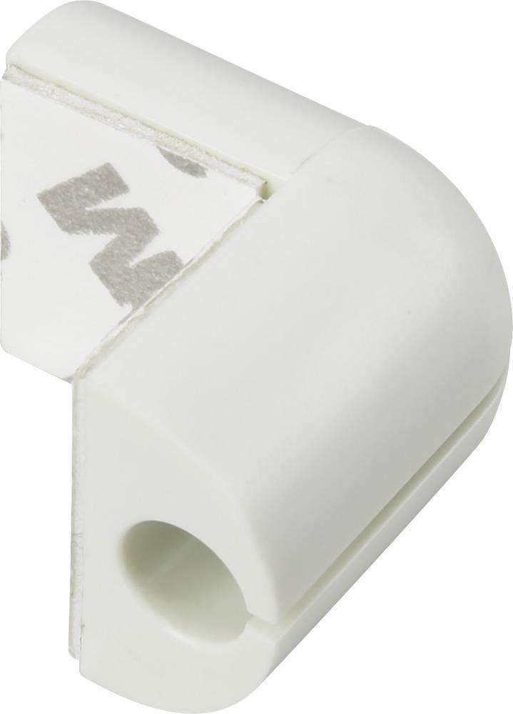 Sponka za kable za kotno pritrditev bele barve 1226941 1 kos