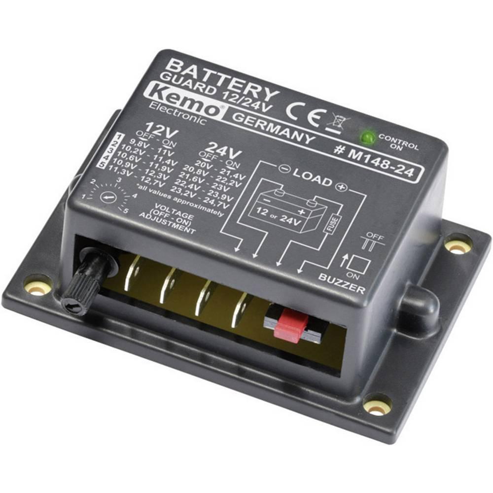 Batteriovervågning Afladningsbeskyttelse 12 V, 24 V Kemo M148-24