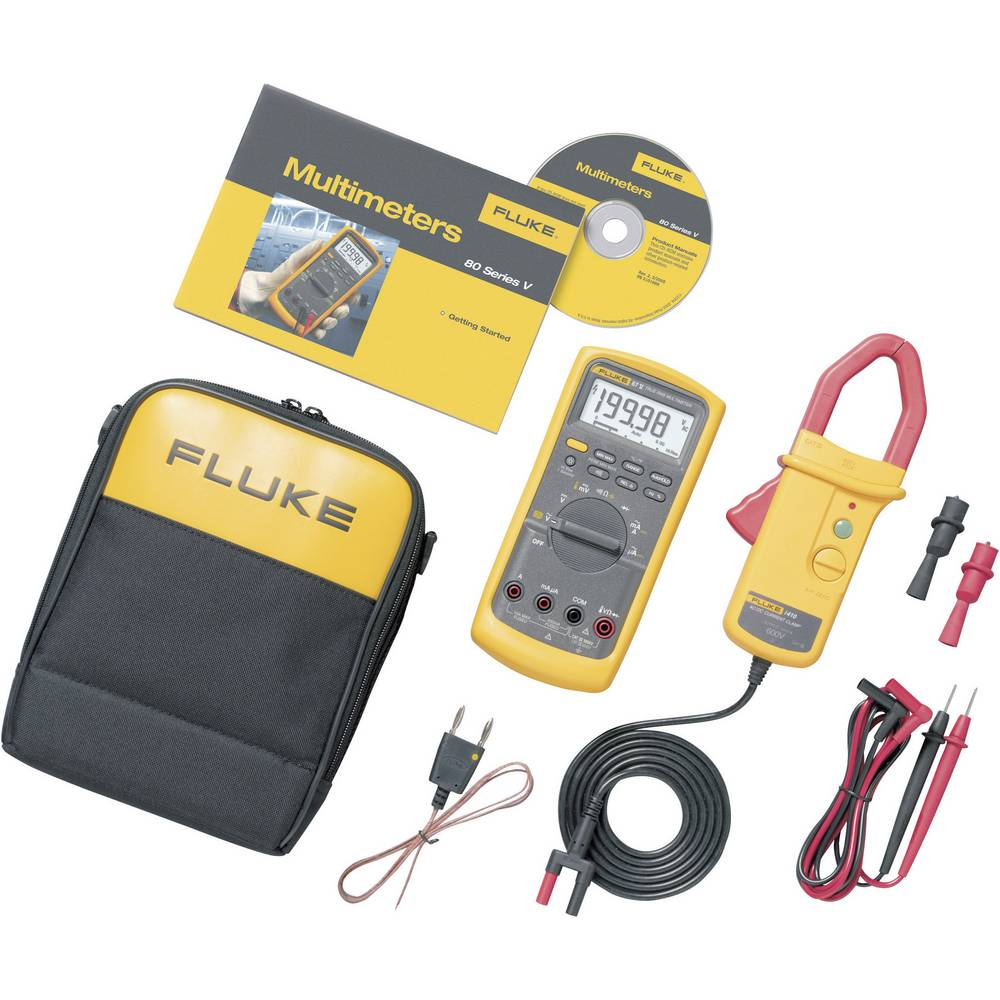 Current Clamp Handheld Multimeter Digital Fluke 87v I410 Kit From Electronic Multimeters