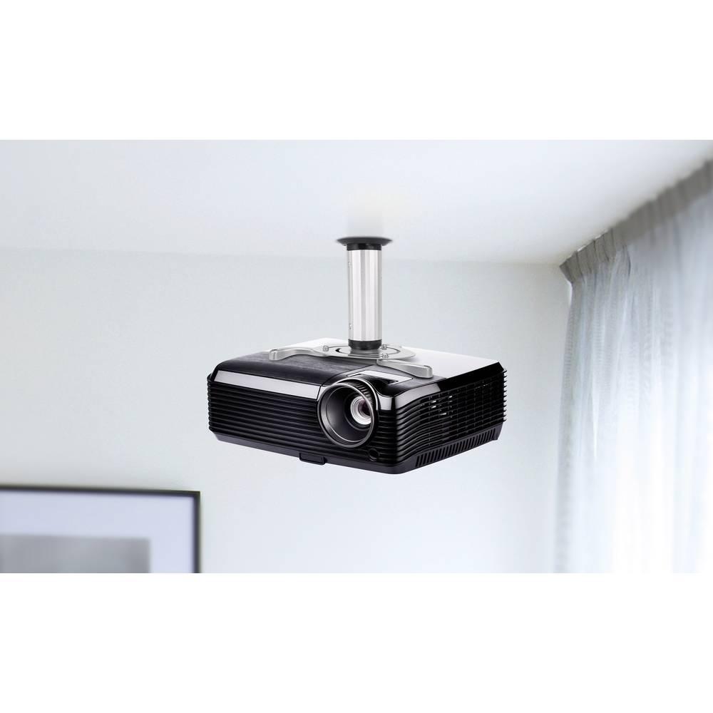 Stropni držač za projektor sa podešavanjem nagiba udaljenost od stropa/poda (maks): 20 cm SpeaKa Professional srebrni