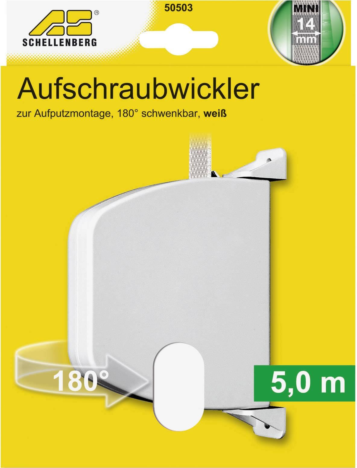 Schellenberg Mini 50503 Swivelling Screw-On Belt Winder for Roller Shutters White by Schellenberg