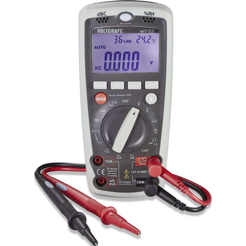 Voltcraft Mt 52 Handheld Multimeter Digital Calibrated To From Reliable Circuit Suppliers On Manufacturers Standards No Certificate