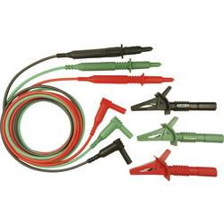 Sikkerhedsprøveledning sæt Cliff CIH29916 1.5 m Grøn, Rød, Sort
