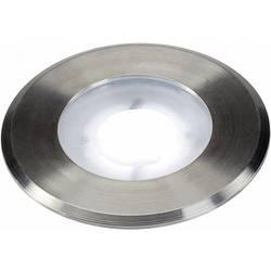 LED-udendørs indbygningsbelysning 4.3 W Kølig hvid SLV Dasa Flat 228411 Rustfrit stål (børstet)