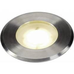 LED-udendørs indbygningsbelysning 4.3 W Varm hvid SLV Dasa Flat 228412 Rustfrit stål (børstet)