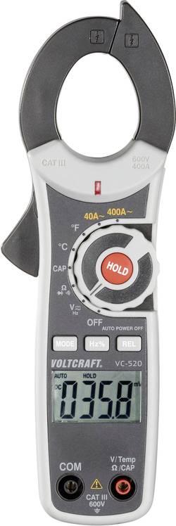 Tokovne klešče, ročni multimeter, digitalni VOLTCRAFT VC-520 kalibracija narejena po: delovnih standardih, CAT III 600 V število