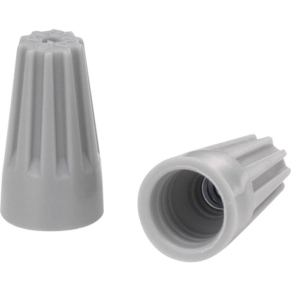 Enojni polnilni konektor, prilagodljiv: - toga: 0.5-1.25 mm št. polov: 2 KSS SW71BH 100 kos siv