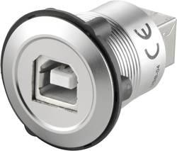 USB-uttag typ B till USB-uttag typ A TRU COMPONENTS USB-03 USB 2.0 Silver 1 st