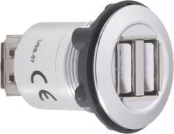 2 x USB-uttag typ A med 2 x USB-uttag typ A TRU COMPONENTS USB-07 USB 2.0 Silver 1 st