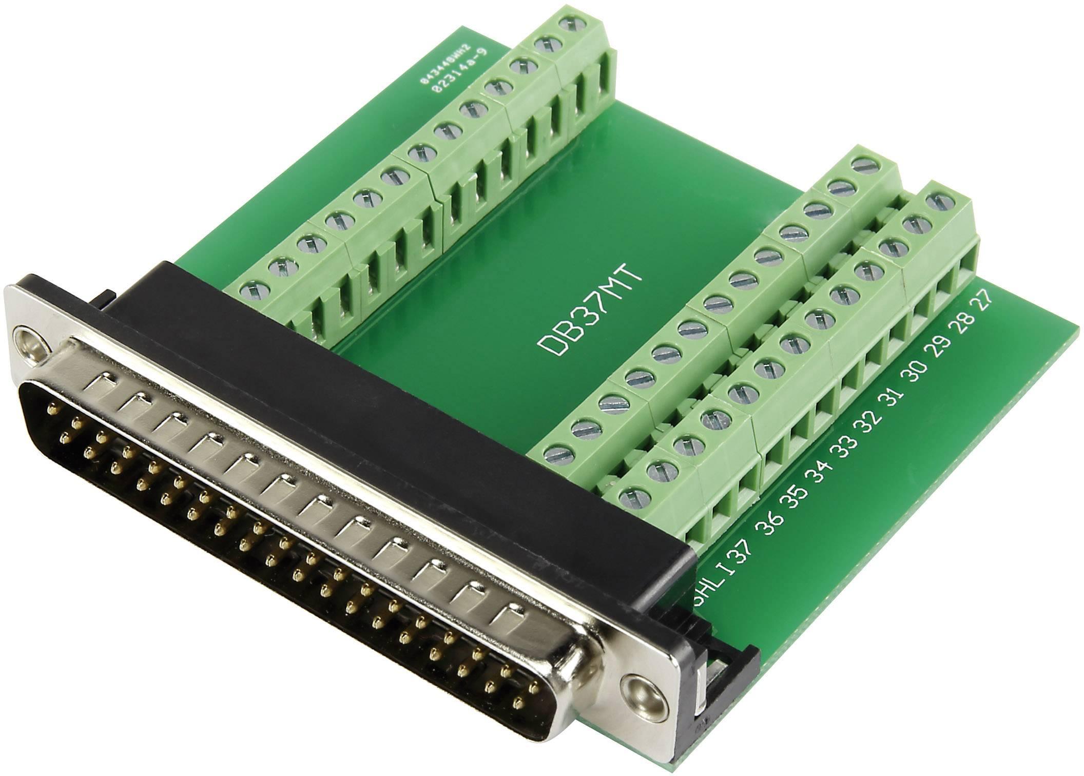 TRU COMPONENTS DSUB37M-39TB-3 D-SUB plug 90 ° Number of pins
