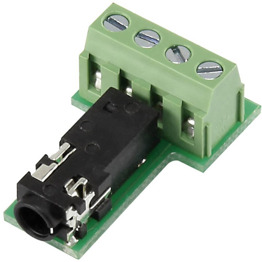 Klinken-vtični konektor, 3.5 mm vtičnica, vgraden horizontalen število polov: 4 Stereo črne barve Conrad PJ3.5-4TB-1 1 kos