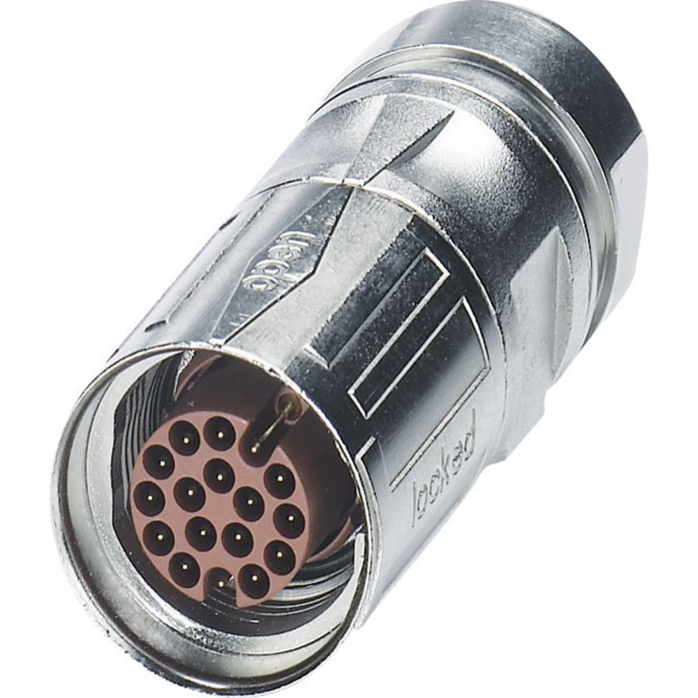 M17-kabelstik Phoenix Contact ST-17P1N8A8004S Sølv 1 stk
