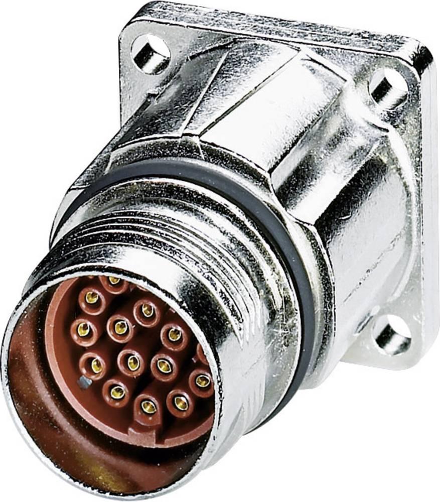 M17 Compact stik Front montering Phoenix Contact ST-17S1N8AWQ00S Sølv 1 stk