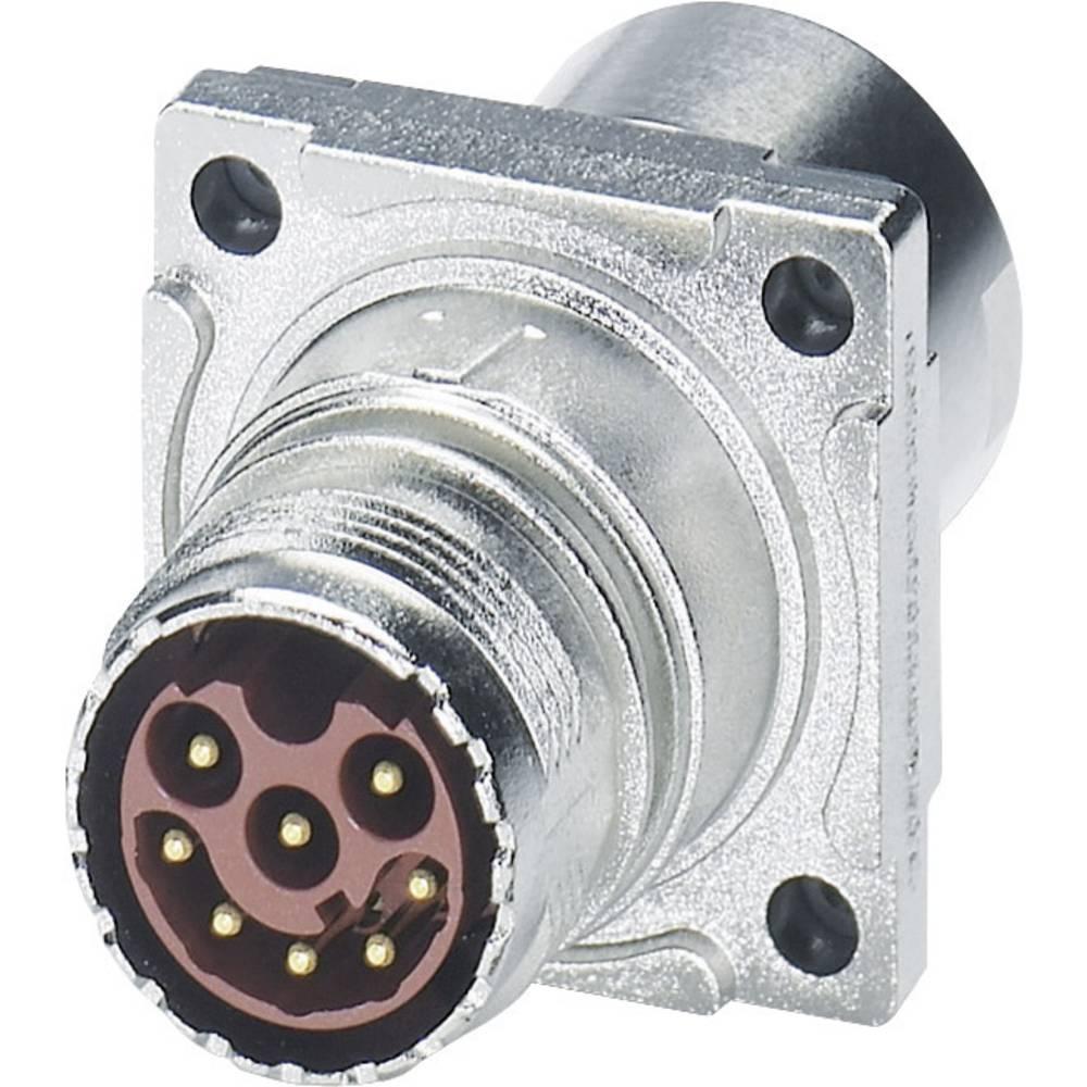 M17 Compact Connectors væg bøsning Phoenix Contact ST-17P1N8ACK03S Sølv 1 stk