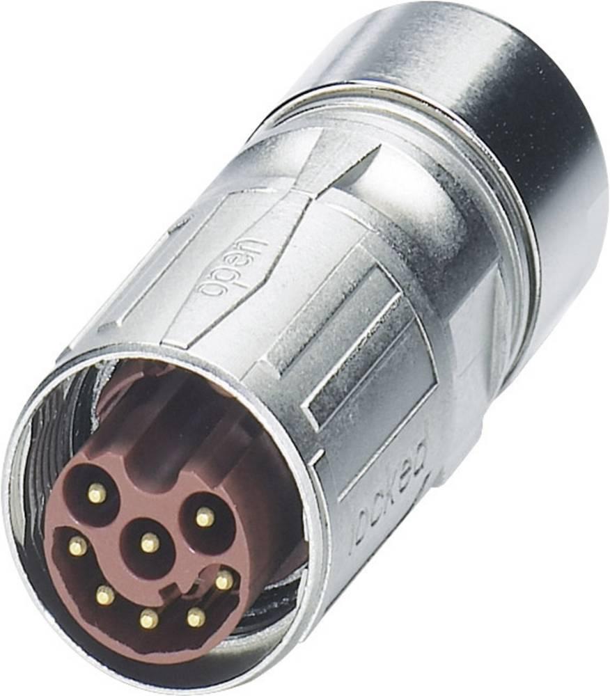 M17 Kompakte kabelstik Phoenix Contact ST-17P1N8A8K02S Sølv 1 stk