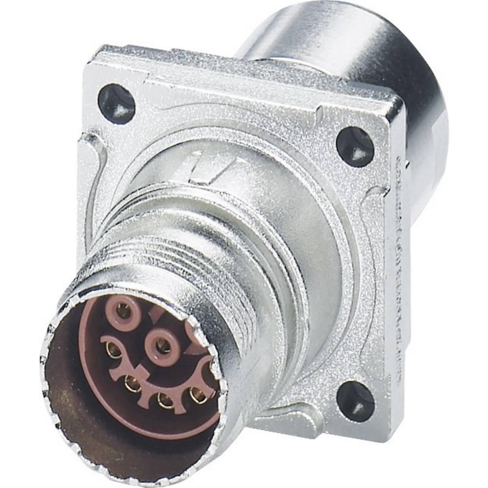 M17 Compact Connectors væg bøsning Phoenix Contact ST-17S1N8ACK03S Sølv 1 stk