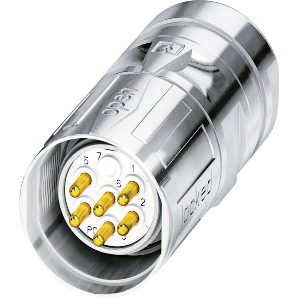 M23-kabelstik Phoenix Contact CA-06P1N8A8006S Sølv 1 stk