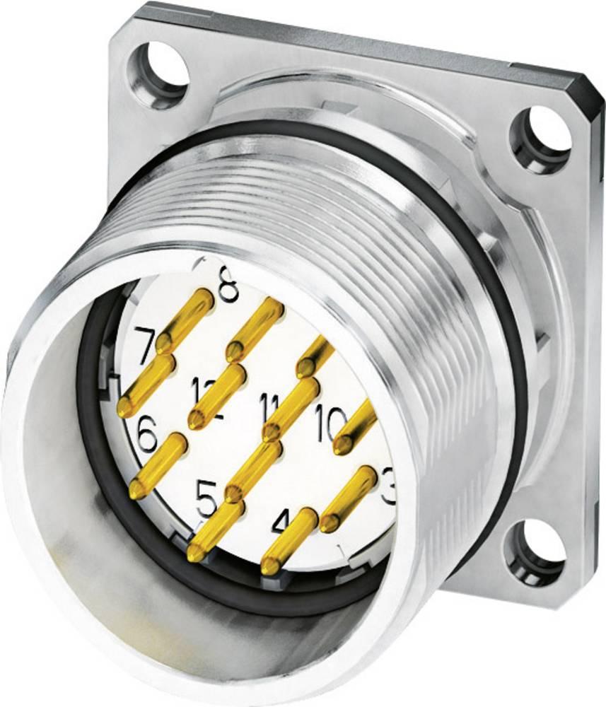 M23 Konektor za naprave, pritrditev s prirobnico CA-17P1N8A2S00 srebrna Phoenix Contact vsebina: 1 kos