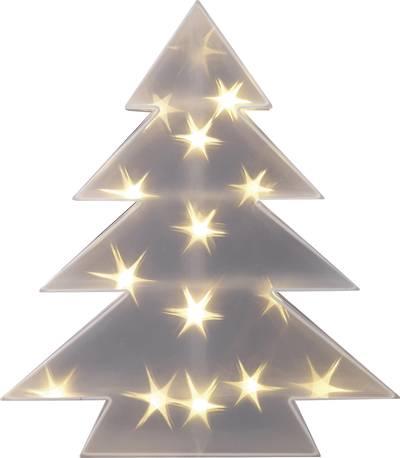 Image of LED christmas decoration Christmas tree Warm white LED Polarlite LDE-04-001 Transparent