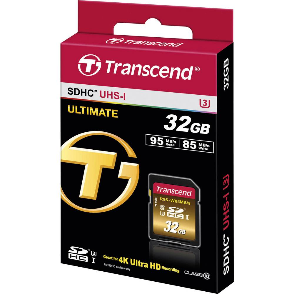 Transcend Extreme Sdhc Card 32 Gb Class 10 Uhs I 3 From Sd Sandisk 1 90mb
