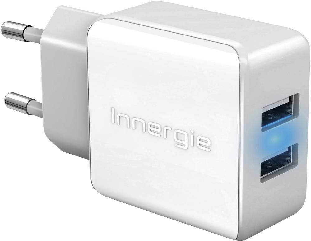 USB-oplader Innergie mMini AC 21 Duo ADP-21AW CAD Stikdåse Udgangsstrøm max. 2100 mA 2 x USB Auto-Detect