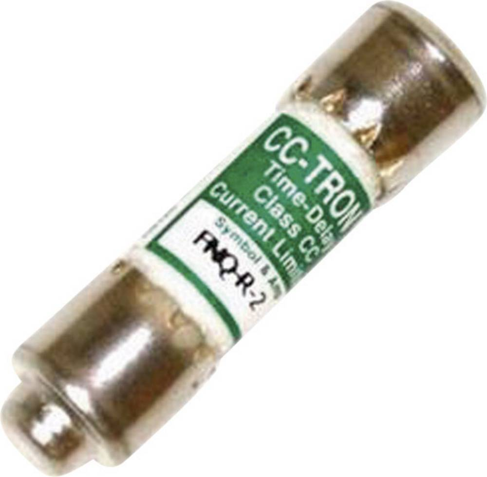 Time Delay sikring (Ø x L) 10.3 mm x 38.1 mm 1 A 600 V/AC Træg -T- Bussmann FNQ-R-1 Indhold 1 stk