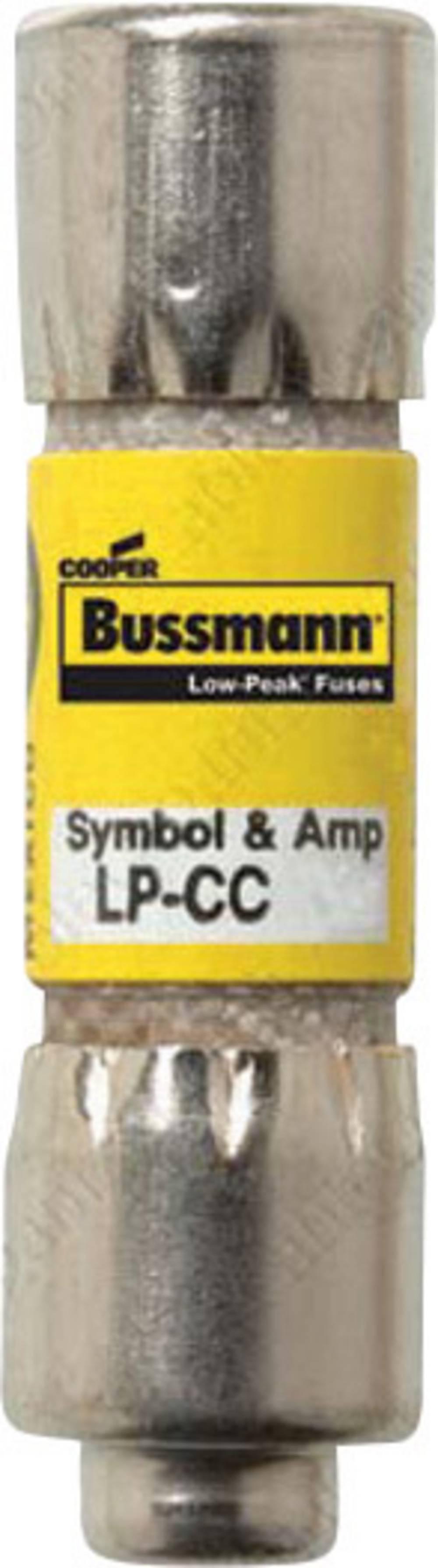 Time Delay sikring (Ø x L) 10.3 mm x 38.1 mm 12 A 600 V/AC Træg -T- Bussmann LP-CC-12 Indhold 1 stk
