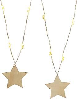 Motiv-lyskæde Polarlite Stjerner LED Varm hvid 1.5 m Indvendigt Batteridrevet