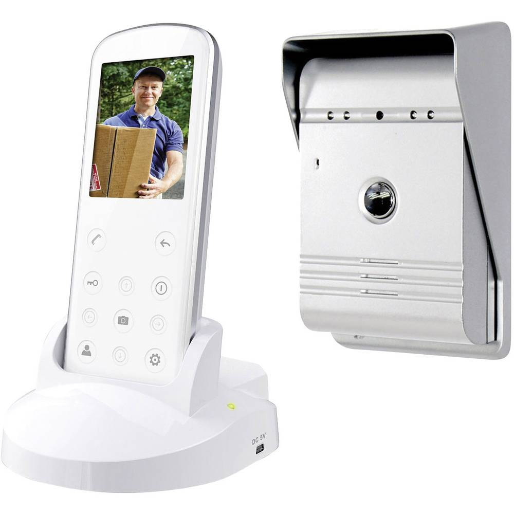 Smartwares Vd36w Video Door Intercom Radio Complete Kit Detached Wireless Ac Power Line Cordless Systems Up To 1000