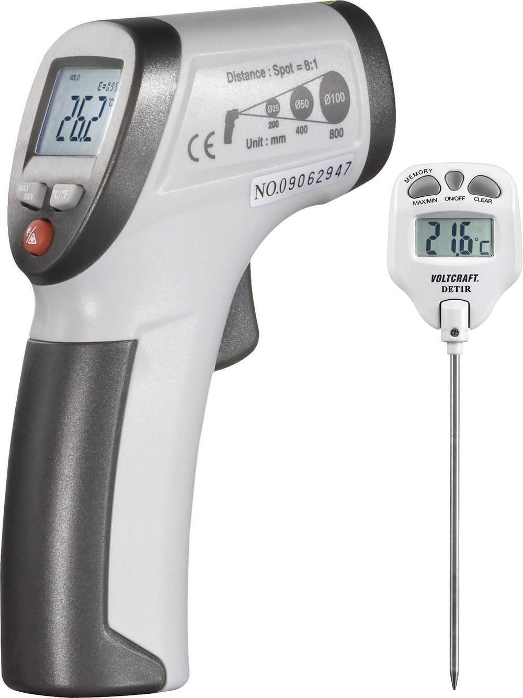 Infrardeči termometer VOLTCRAFT komplet, IR-termometer + vbodni-termometer optika 8:1 -30 do +260 °C kontaktno merjenje, piromet