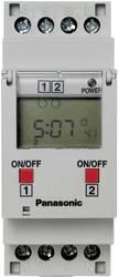 Timer til DINskinne Driftsspænding (num): 230 V/AC Panasonic TB6220187 2 x omskifter 16 A 250 V/AC Ugeprogram