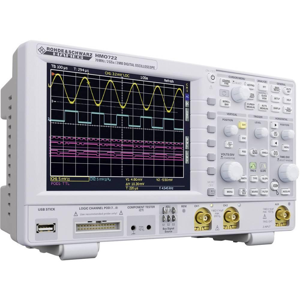 Rohde Schwarz Hmo 722 2 Channel Oscilloscope Digital Storage Adapter