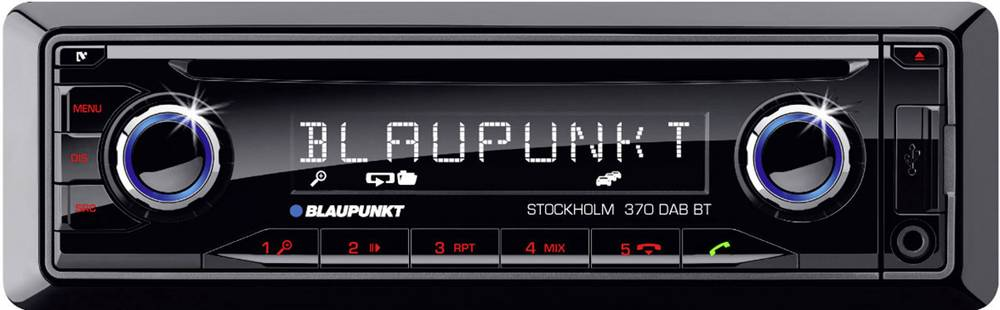 Bilradio Blaupunkt Stockholm 370DAB+ DAB+ tuner, Håndfrit Bluetooth®-system