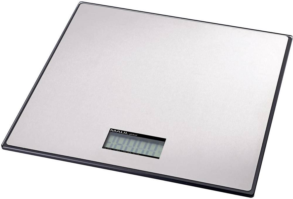 Tehtnica za pakete Maul MAULglobal 100 kg, območje tehtanja do 100 kg, natančnost: 100 g baterijska srebrne barve